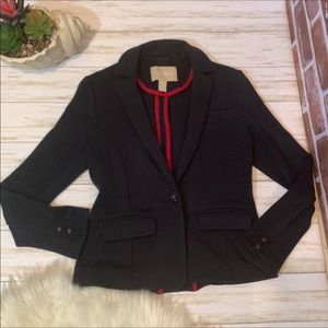 Banana republic navy sweatshirt knit blazer Xs